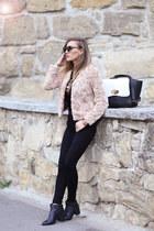 Glittioro jacket - Glittioro boots - Glittioro jeans - adonaro bag