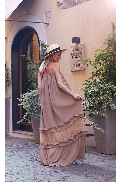 Stada Boutique dress - c&a hat - YSL bag