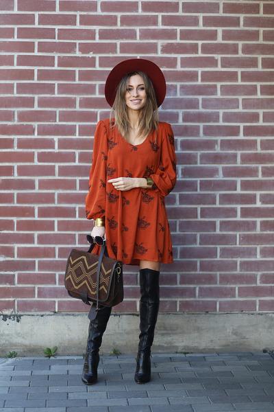 Choies boots - shein dress