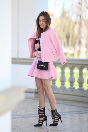 choiescom suit - dvf bag - Lucluccom heels - romwe top