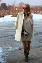 Vero Moda dress - Local store boots - Zara coat - H&M glasses