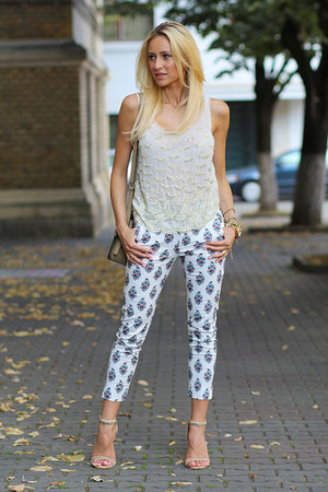 meli melo bag - River Island top - Stradivarius sandals - Sheinside pants