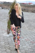 H&M pants - Zara blazer - Vero Moda t-shirt