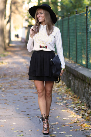 PERSUNMALL boots - Sheinside blouse - H&M skirt