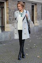 Sheinsidecom coat - Mart of China boots - romwe sweater - Romwecom bag