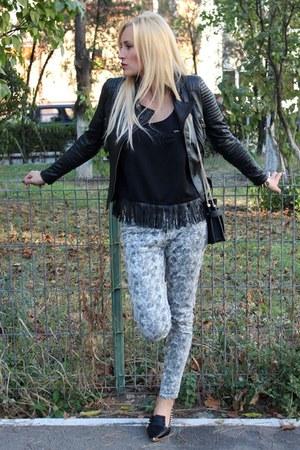 Zara jacket - Zara bag - Vero Moda t-shirt - Romwecom flats - Stradivarius pants