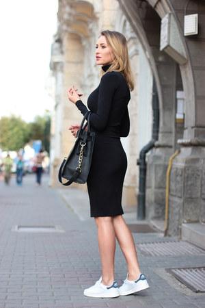 Zara dress - Michael Kors bag - Adidas sneakers