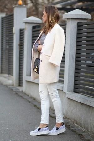 Sheinsidecom coat - Sheinsidecom jeans - Marc by Marc Jacobs bag