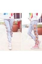 skinny jeans - sneakers