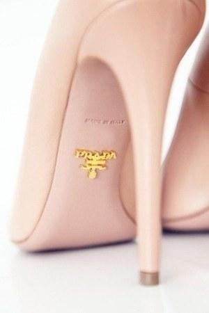 peach Prada heels
