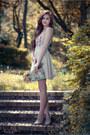 Salmon-floral-print-bershka-bodysuit-nude-peach-bershka-skirt