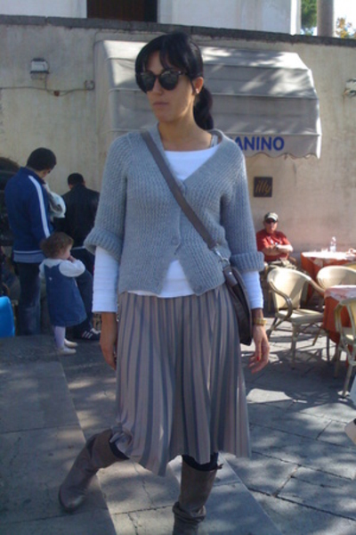 Zara blouse - Zara skirt - shoes