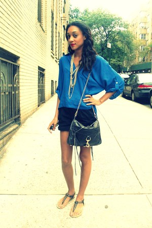 necessary clothing blouse - Rebecca Minkoff bag - H&M shorts
