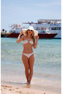 White-white-cat-eye-asos-sunglasses-asos-earrings-white-bikini-swimwear