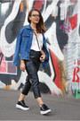 Dark-gray-zaful-shoes-blue-oversized-denim-vintage-jacket