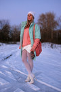 Light-blue-pastel-kira-plastinina-coat-coral-knitted-vintage-sweater