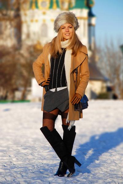 black OASAP tights - charcoal gray OASAP skirt
