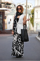 white sleeveless StyleMoi blazer