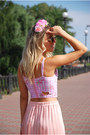 Flower-crown-diy-hair-accessory-pink-crop-top-vintage-top