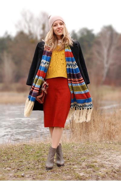 blue aztec printed sammydress scarf