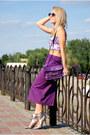 Purple-midi-vintage-skirt