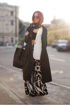 black palazzo pants Yesfor pants - white StyleMoi vest
