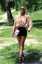 velvet Stradivarius shorts - round asos sunglasses