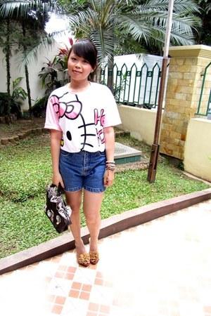 bubble gum shirt - dark brown Gosh bag - tawny Avenue sandals