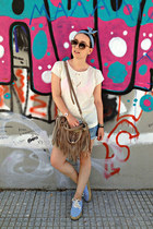 D&G bag - Zara shorts - H&M sunglasses - H&M hair accessory - Oysho top