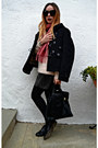 Black-burberry-coat-light-pink-massimo-dutti-sweater