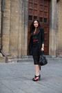 Black-la-redoute-coat-black-prada-bag-black-romwe-skirt-black-asos-top