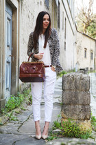 brown The Bridge bag - white Aniye By jacket - white Mavi shirt