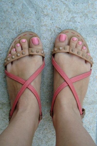 pink Bershka sandals