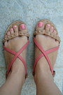 Pink-bershka-sandals