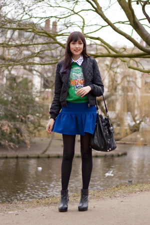 asos africa skirt - H&M jacket - Kenzo sweater - Hong Kong Ladies Market bag