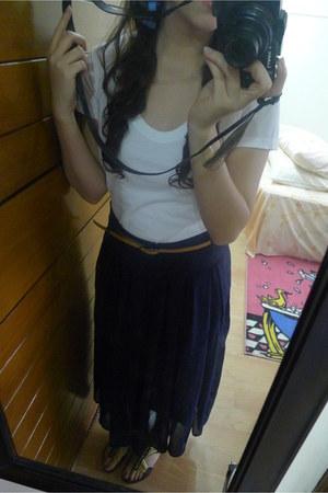 fab skirt - sewn sandals