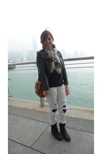Zara boots - Topshop jeans - Pink Manila jacket
