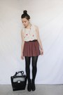 Briefcase-style-zara-bag-cat-zara-blouse-polka-dot-pull-bear-skirt