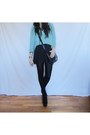 Black-stradivarius-bag-sky-blue-wool-attrativo-sweater-black-zara-skirt