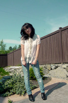 J Crew blouse - American Eaglee jeans - delias shoes - forever 21 necklace - BP