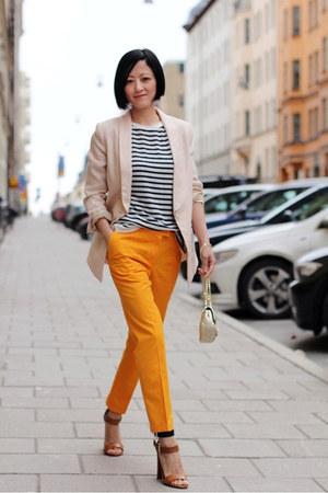 Alexander Wang top - hm blazer - COS pants - Zara sandals