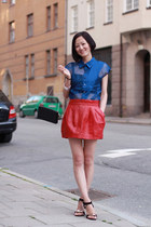 Zara skirt - dior bag - Celine sandals