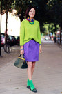 Whitles-sweater-hermes-scarf-hm-skirt-roger-vivier-flats