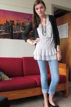 silver Gorgeous top - blue delias jeans - black Target sweater