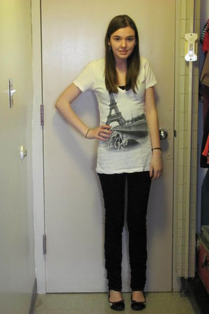 white Forever 21 shirt - black Jake Jeans jeans - silver unknown shoes
