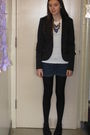 Black-h-m-blazer-white-forever-21-shirt-blue-charlotte-ronson-for-jcp-shorts