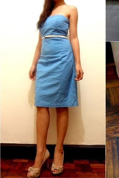 Sky Blue Tube Dress Gap Dress