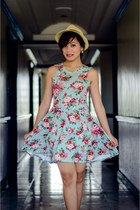 aquamarine floral mint dress