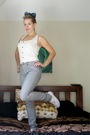 White-dress-silver-lee-jeans-white-wharehouse-shoes-blue-vintage-scarf