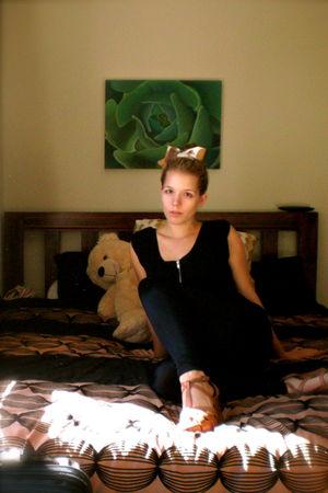 black Jeans West shirt - black Glassons leggings - beige Self Sewn accessories -